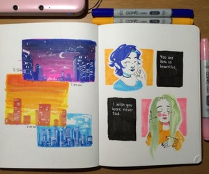 art, artjournal, and sketch journal image