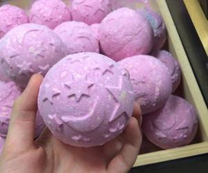 pink, lush, and stars image