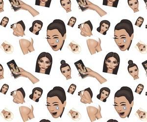 wallpaper, kim kardashian, and background image
