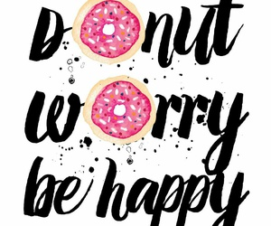 happy, cute, and donut image