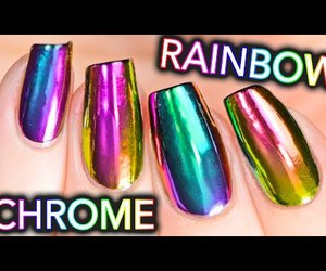 chrome, nails, and video image