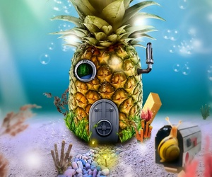 house and spongebob image