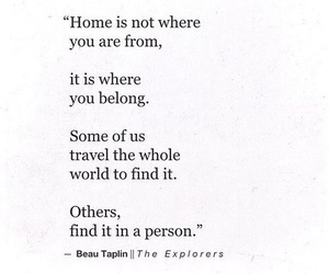 quotes, home, and love image