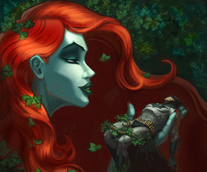 batman, fanart, and poison ivy image