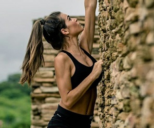 girls, climbing, and fitness image