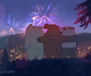 ice bear, panda, and we bare bears image