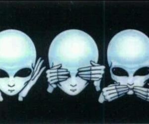 alien, grunge, and black image