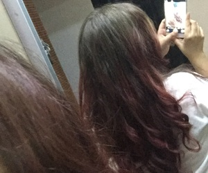 brown, hair, and red image