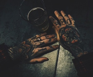 aesthetic, finger tattoos, and alternative image