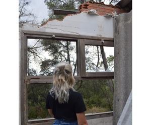 see, window, and grayhair image