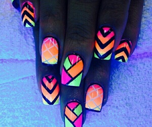 nails, neon, and design image