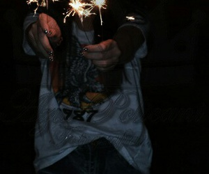 cool, nigth, and fire work image