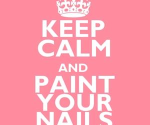 nails, keep calm, and pink image