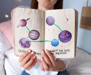 astronomy, book, and stars image