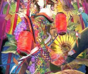 anime, kimono, and art image