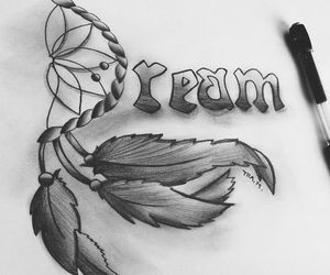 drawing, Dream, and art image