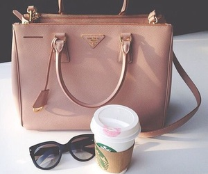 bag, fashion, and starbucks image