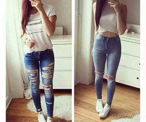 clothing, nails, and outfits image