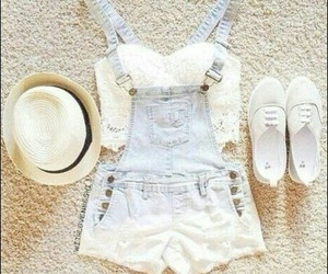 summer, white, and fashion image