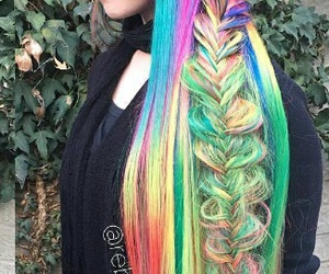 colourful, rapunzel, and hair image