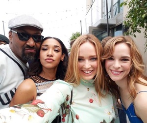 danielle panabaker, the flash, and jesse l. martin image
