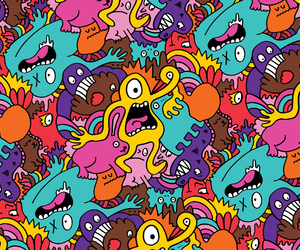monster, pattern, and wallpaper image