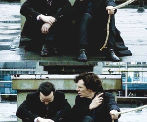 sherlock, benedict cumberbatch, and jim moriarty image