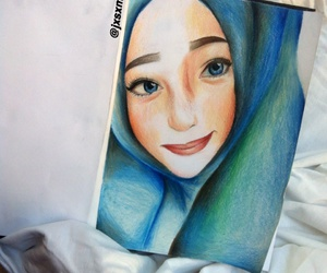 art, colour pencil, and drawing image