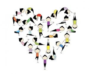 heart, yoga, and love yoga image