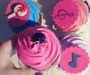 cupcakes, food, and music image