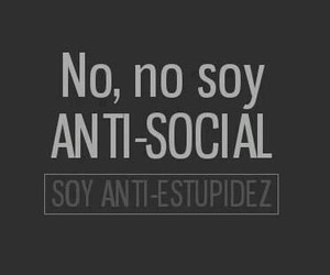 frases and anti-social image