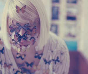 blond, flowers, and fun image