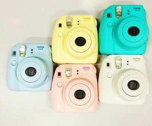 camera, colors, and polaroid image