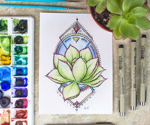 art, creative, and watercolor image