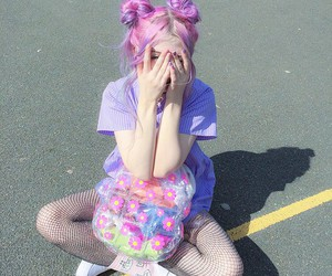 pink, hair, and tumblr image