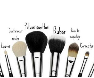 Brushes, maquillaje, and make up image