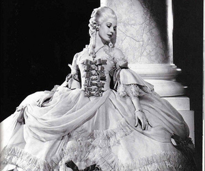 dress, black and white, and baroque image