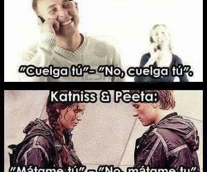 the hunger games, los juegos del hambre, and katniss. peeta image