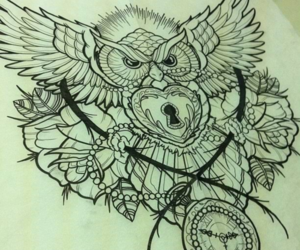 :) and owl image