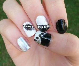 and, black, and nail image