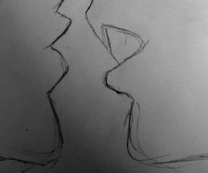drawing, Easy, and kiss image