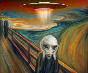 alien, art, and ufo image