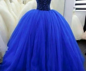 azul, blue, and vestidos image