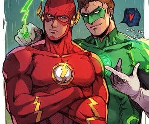 flash, justice league, and superhero image