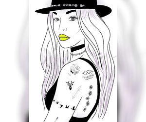 cool, neon, and tattos image