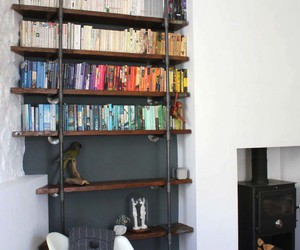 bookshelf, inspiration, and inspiring interiors image
