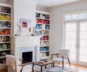 bookshelf, inspiration, and home library image