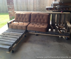 pallet sofa and pallet sofa plans image