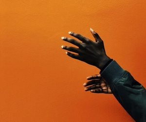 orange, hands, and aesthetic image
