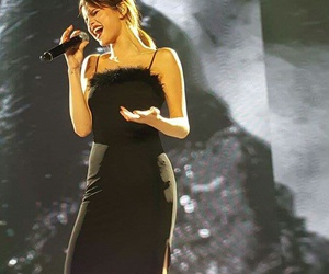 black dress, sing, and feels image